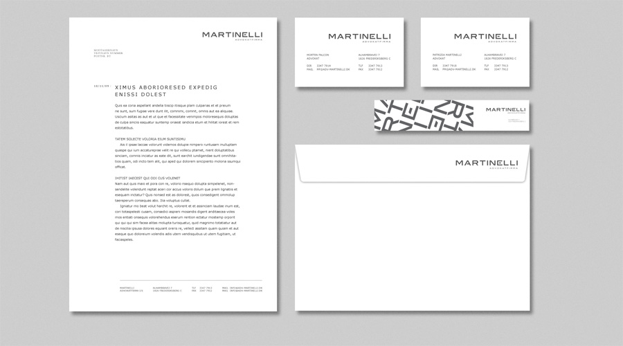 Martinelli advokatfirma stationary